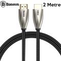 Baseus Horizontal HDMi 2.0 Kablo 4KHDMI to 4KHDMİ Kablosu 2Metre