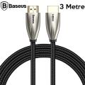 Baseus Horizontal HDMi 2.0 Kablo 4KHDMI to 4KHDMİ Kablosu 3Metre