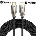 Baseus Horizontal HDMi 2.0 Kablo 4KHDMI to 4KHDMİ Kablosu 5Metre