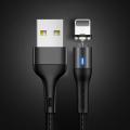 Usams US-SJ352 U32 Aluminium Alloy Mıknatıslı Başlık İPhone usb Şarj Kablosu