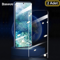 BASEUS Curved- Galaxy S20 Ultra Full Kaplama UV Tempered Cam Koruyucu 2Adet
