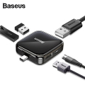 BASEUS Fully Folded Portable Type-C Hub Type-c to USB2.0*4  Power Supply Model