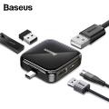 BASEUS Fully Folded Portable Type-C Hub Type-c to USB2.0*4  Power Supply Model
