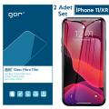 GOR İPhone 11/XR 6.1 Flexible Nano Glass Ekran Koruyucu 2adet Set