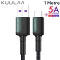 KUULAA USB-Type C Huawei P20,P30 Mate 20 pro 20 lite Supercharge Hızlı Şarj Kablosu
