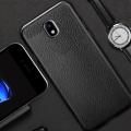 Ally Galaxy J7 Pro J7 2017 Deri Dokulu Premium Fit Soft Silikon Kılıf
