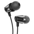 KUULAA Zinc Alloy 3.5mm Jack Mikrofonlu Kulak İçi Kulaklık