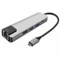 Gigabit USB 3.1 Type C To HDMI 2xusb 3.0 RJ45 Ethernet Dönüştürücü Adaptör