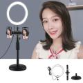 PULUZ Çift Telefon tutucu 12CM Led Işık Stand Youtuber,Canlı Yayın Selfie TikTok Makeup