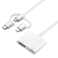 ALLY 3 in1 HDMI dijital AV Adaptörü iPhone-Android-Usb type C+Micro Usb