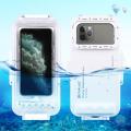 PULUZ İPhone İçin 45m Su Geçirmez Dalışm Kılıfı iP11-11 Pro XS Max 7-8-6S