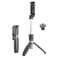ALLY L02 4İN1 Selfie Çubuğu Özçekim Tripod Çubuğu Bluetooth Uzaktan Kumandalı