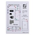 JIAFA JF-870 iPhone 11 Pro Max Mıknatıslı Çalışma Hasırı Vida Gostergeli