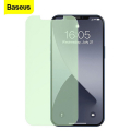 BASEUS  İPhone 12- 12 Pro 6.1 0.30mm Full Tempered Cam Ekran Koruyucu 2Set Anti-Bluelight