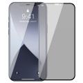 Baseus İPhone 12 Pro Max 6.7 0,23mm Anti Spy Çerçeveli Tempered Cam Ekran Koruyucu 2 Adet Set