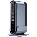 Baseus Working Station 17in Type-C to HDMI-RJ45-USB-SD-TF-3.5mm+Şarj Aleti