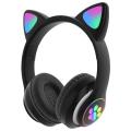 ALLY 23M Kedi Kulak Kulaküstü Bluetooth 5.0 Kablosuz Kulaklık Led Işıklı