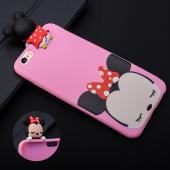 İphone 6,İphone 6s 3d Minnie Figürlü Silikon Kılıf