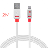 GRİFFİN FLAT USB KABLO 2METRE İPHONE 5,5S, 6, 6S,7,7PLUS