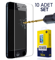 İphone 5g,5s 5se Kırılmaz Cam Ekran Koruyucu (10 Adet Set)