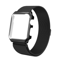 ALLY APPLE WATCH İÇİN 42MM 1,2,3 METAL KAYIŞ MİLANO LOOP+METAL KILIF