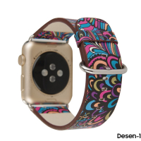 APPLE WATCH 1,2,3 38MM DÖNGÜ DESENLİ PU DERİ KORDON KAYIŞ