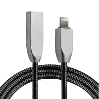 Ally İphone,5s,6s,7,8,8 Plus Zinc Alloy Dayanıklı 2,4 A Metal Usb Kablo