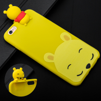 İPHONE 6 PLUS,İPHONE 6S PLUS 3D WİNNİE POOH FİGÜRLÜ SİLİKON KILIF
