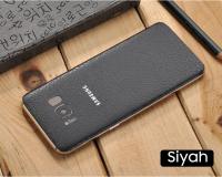 Ally Galaxy S8 Deri Görünümlü Arka Kaplama Sticker