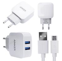 ANKER 2.1A 2 PORT USB ÇIKIŞLI +MİCRO USB KABLO