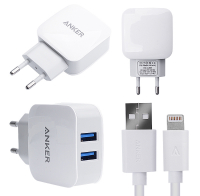 ANKER 2.1A 2 PORT USB ÇIKIŞLI +İPHONE LİGHTNİNG USB KABLO
