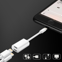 Y CABLE İPHONE 7-8- 7-8 X PLUS LİGHTNİNG KULAKLIK +ŞARJ USB ADAPTÖRÜ