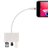 İPHONE,İPAD LİGHTNİNG TO TF,SD CARD USB KAMERA ADAPTÖRÜ