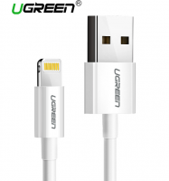 UGREEN İPHONE 5.6.7.8.X MFİ LİSANSLI 2.4A 1M USB DATA ŞARJ KABLOSU