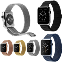 Ally Apple Watch 6-5-4 44MM 1-2-3 42MM Kayış Kordon Metal Milano Loop
