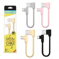 ALLY USB TYPE-C EĞİK BAŞLI HALAT USB KABLO 2.20CM KISA KABLO