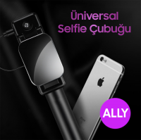 Ally Universal Aynalı Tuşlu Selfie Çubuğu