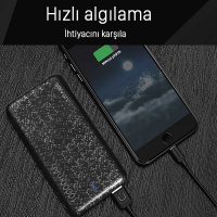 USAMS 10000mAh 15MM ULTRA SLİM 2.1A HIZLI ŞARJ POWER BANK