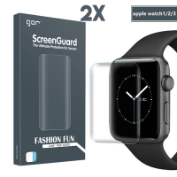 GOR APPLE WATCH 38MM 1,2,3 3D KAVİSLİ FULL KAPLAMA DARBE EMİCİ EKRAN KORUYUCU 2 ADET SET