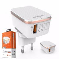 LDNIO A1204Q 5V/2.4A HIZLI ŞARJ + İPHONE USB KABLO