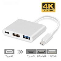 4k Type C Hdmi Görüntü Aktarıcı 3 İn1 Şarj Usb Çıkışlı Kablo
