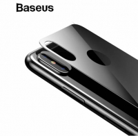 BASEUS İPHONE XS MAX 6.5 RENKLİ ARKA CAM KORUYUCU 0.3MM
