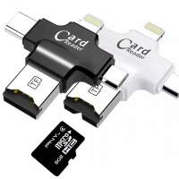 CARD READER 4İN1 TYPE-C- İPHONE LİGHTNİNG-MİCRO USB HAFIZA KART OKUYUCU
