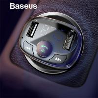 Baseus CCTM S-09A Bluetooth Aktarım Mp3 Araç Kiti Dual Usb Araç Şarjı
