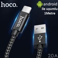 HOCO X14 MAX ANDROİD MİCRO USB KOPMAZ HALAT USB ŞARJ KABLOSU