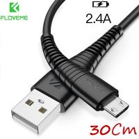 FLOVEME MİCRO USB ANDROİD 2.4A HIZLI ŞARJ 30CM KISA ŞARJ USB KABLO