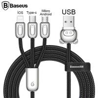 Baseus Camlt 3in1 Type-C,İphone, Micro Usb Çoklu Başlık Halat Usb Kablo