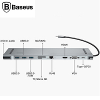 Baseus Enjoyment Series 10in1 Macbook Lar İçin Type C Hub Adeptör