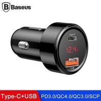 Baseus 45w Hızlı Şarj 4.0,3.0 1 Tyep C+usb Pps Araç Şarj Başlık
