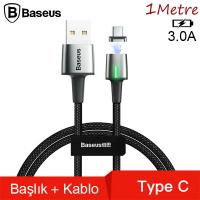 Baseus Zinc Magnetic Usb Kablo Şarj Usb Type C Başlık 3.0A 1Metre